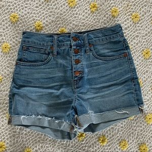 Madewell high rise button fly shorts 3032